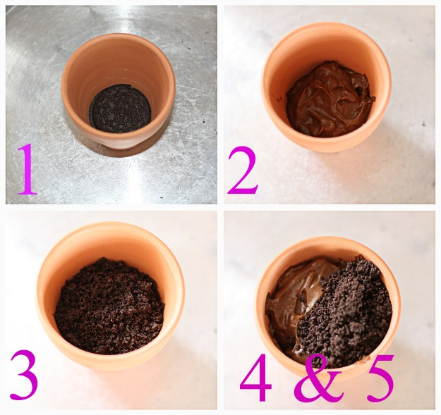 Layered Flower Pots Once The Pot is Layered It's