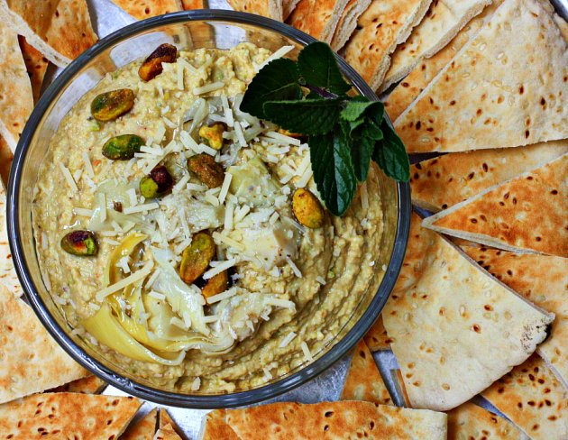 Pistachio Artichoke Hummus