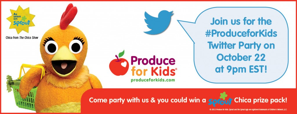 Produce for Kids Twitter Party Banner