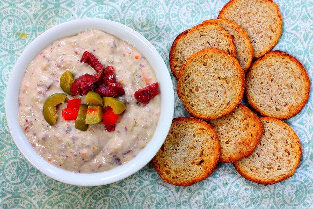 white bean olive hummus