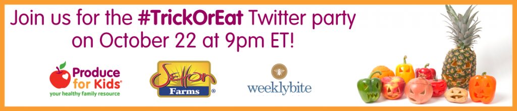 #TrickOrEat Twitter Party Banner