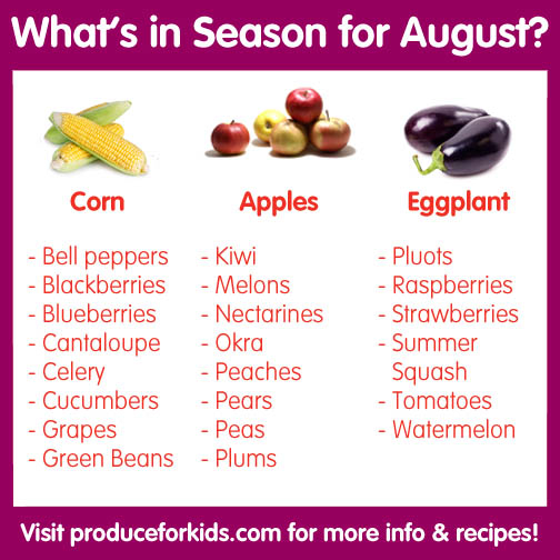 What's in Season for August
